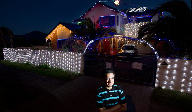 flashlight mohis chand 17 spent hours programming the christmas lights at his baverstock