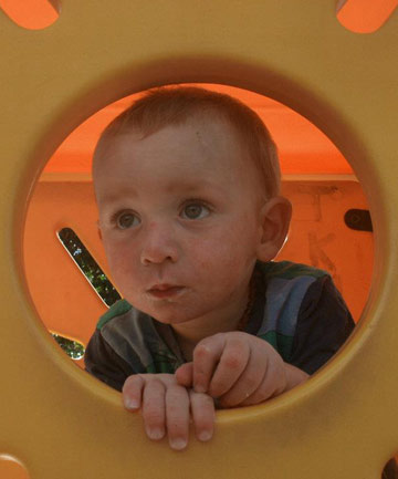 Little fella: Te Aroha toddler Kobi Collier was killed when a stove fell on him last year.
