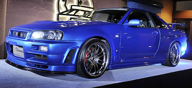 Nissan Skyline GT-R driven by the late Paul Walker in Fast and Furious 4.