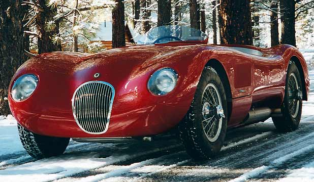 A 1952 Jaguar C-Type XKC 023 owned by Christian Jenny.
