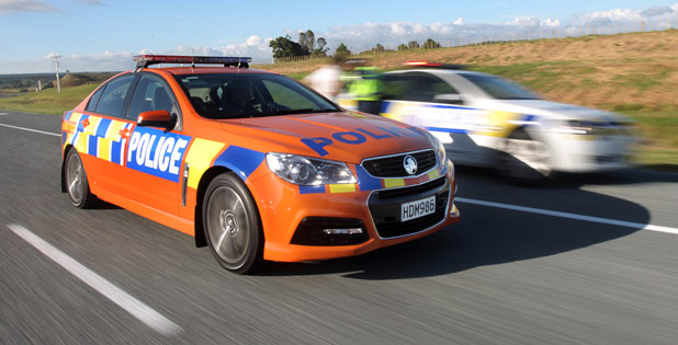 orange patrol car