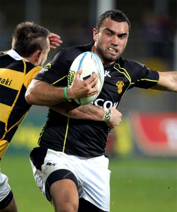 NEW TEAM-MATES: Andre Taylor and Kurt Baker will not have to worry about defending Charlie Ngatai in the NPC after he signed with Taranaki for 2014.