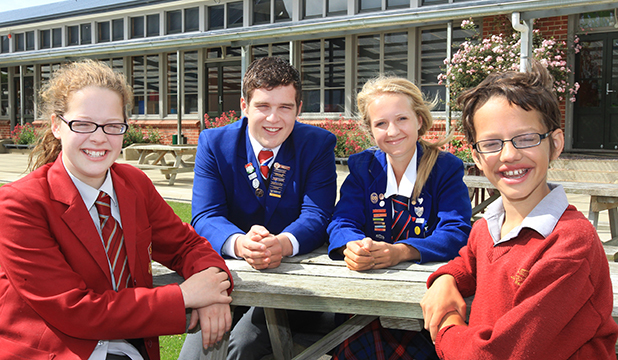 WELL DONE: Former Waianiwa Primary School pupils, from left,  Jennifer Muhl, Adam Carter, Heather Christie and Hamish Muhl who have achieved success at their respective high schools.