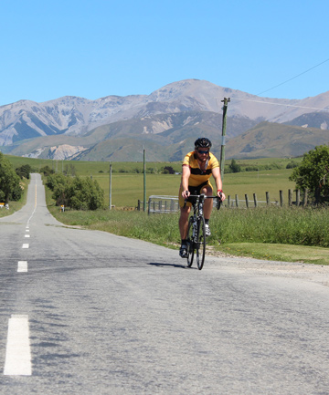 PEDAL PUSHING: Craig Short hopes to finish his 3000km cycling challenge in time for Christmas.