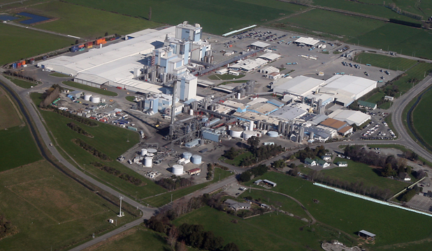 WIND DAMAGE: Fonterra's Clandeboye dairy factory near Temuka in South Canterbury.