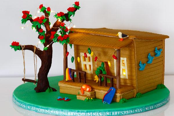 A gingerbread house with a twist