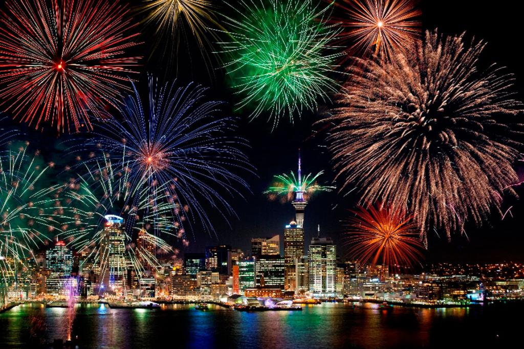 AUCKLAND: Be (almost) the first in the world to usher in the new year by celebrating on Auckland's waterfront under fireworks blasting off from the Sky Tower and all around the city.