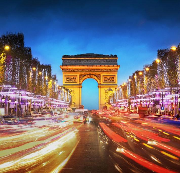 PARIS: You'll find the throng gathered at the Champs Elysees from 9pm. Position yourself with a view of the Eiffel Tower but don't expect fireworks. Instead the tower will be covered in sparkly lights.