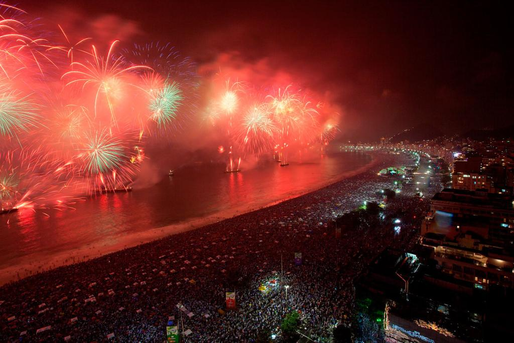 RIO DE JANEIRO: Stand anywhere along Copacabana Beach from 8pm and join the millions who travel from all over the world to ring in the new year