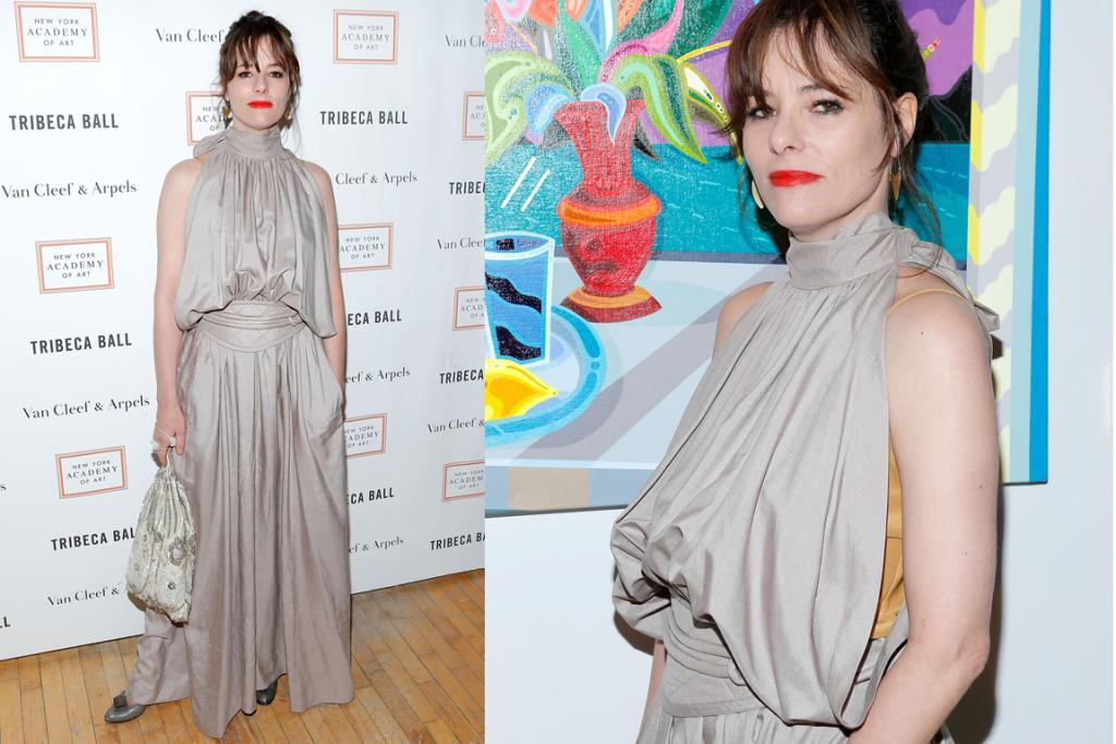 "THE WORST - PARKER POSEY, APRIL: Parks to her stylist: ""I want breast pockets... like some sort of chest sling where I can pack some of the hor d'oeuvres for later."" Stylist to Parker: ""OMFG Parks, we're totes on the same page. I'm kind of seeing Game Of Thrones wench, but WAY less flattering""."