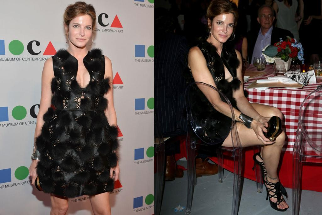 THE WORST - STEPHANIE SEYMOUR, APRIL: 44-year-old model Stephanie Seymour wore hot-off-the-runway Alexander McQueen. Thoughts? I thought that at no point should your outfit look like it could be alive (this works here in both a furry poodle sense, and in a cultivation-of-mold-on-a-cup-of-tea-in-a-grotty-student-flat way).
