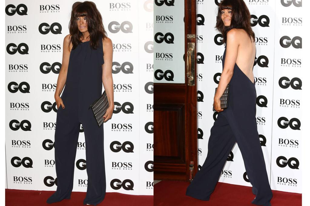 THE WORST - CLAUDIA WINKLEMAN, SEPTEMBER: The British TV presenter normally turns up to events looking a bit edgy, but still cool, but what the blazes went on here? It's very Tan Mom going as Ali Lohan to a fancy dress party. And normally I'm willing to forgive a slightly too-long hem, but this unintentional drop-crotch, red carpet dragging jumpsuit is just unacceptable. Also, I can sympathise with tipsy-while-in-taxi eyeliner issues, but this is drunk-while-in-a-truck-driven-by-Jenson-Button-around-an-F1-track makeup.