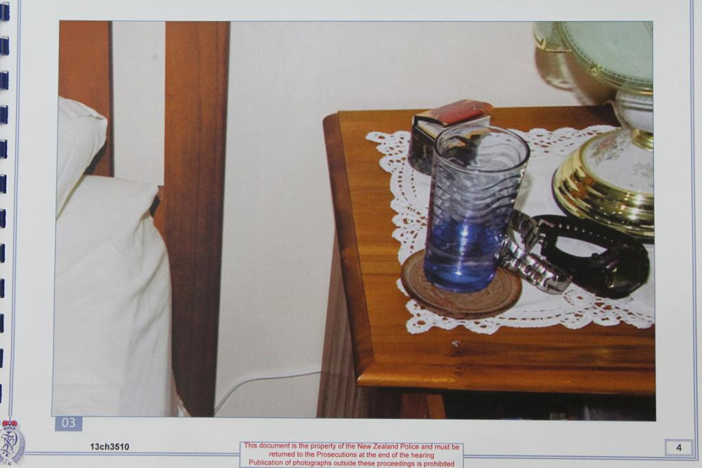 EVIDENCE PHOTOS: Police compiled a book of photos of evidence relating to the murder.