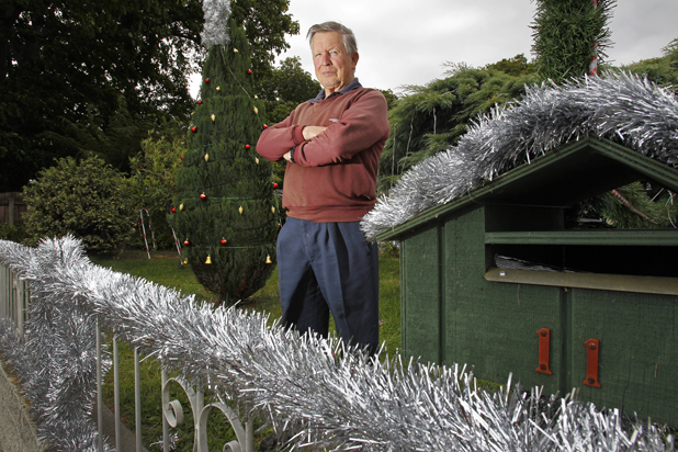 Missing Santa: Brian Selwyn and his family have decorated their house on Endeavour Street, but took down most of their Christmas decorations after having some stolen