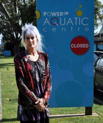 Not happy: Normanby's Leisa Saxton thinks the South Taranaki District Council made the wrong call to close the indoor pool facilities at Hawera's Powerco Aquatic Centre during the school holidays