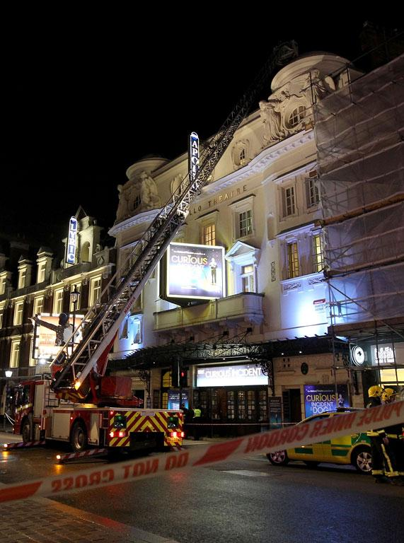 The Apollo Theatre in London, where a roof collapse has injured many.