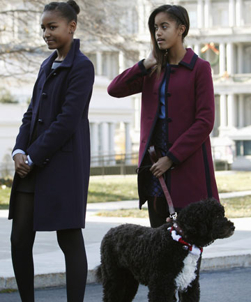 Obama's daughters  Sasha, 12, and Malia, 15