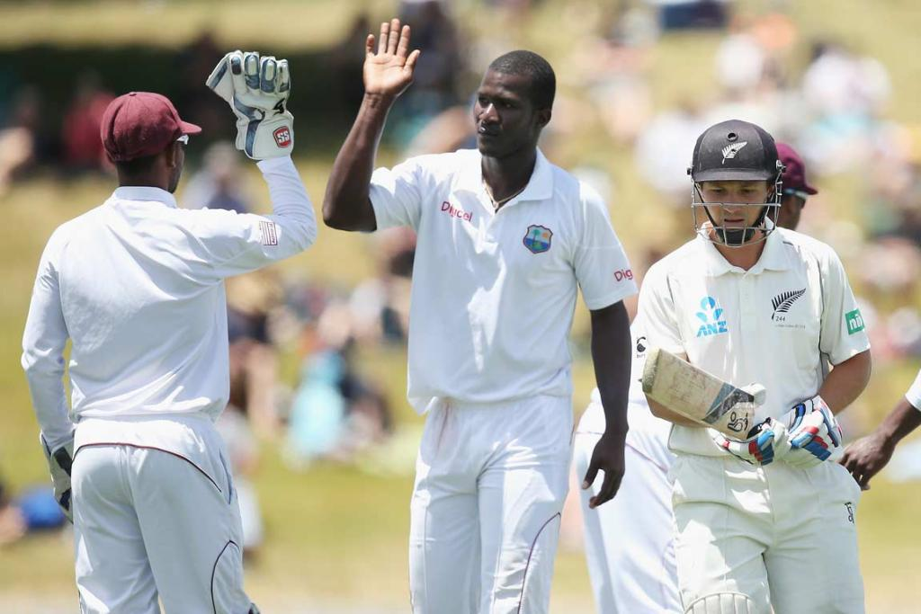 Darren Sammy celebrates after getting rid of BJ Watling.