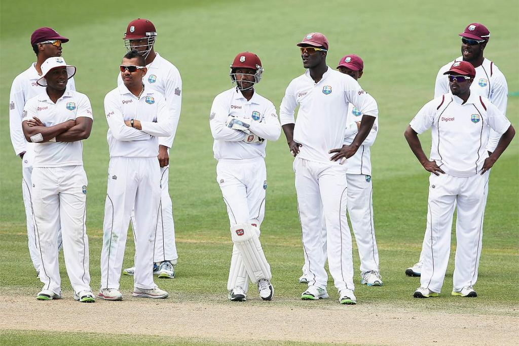 The West Indies look like they're waiting for the plane to leave NZ.