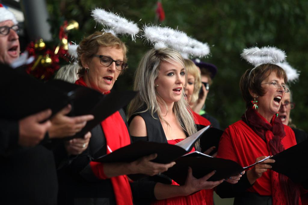 In Harmony singers entertain the crowd at Caroline Bay at Christmas on the Bay.