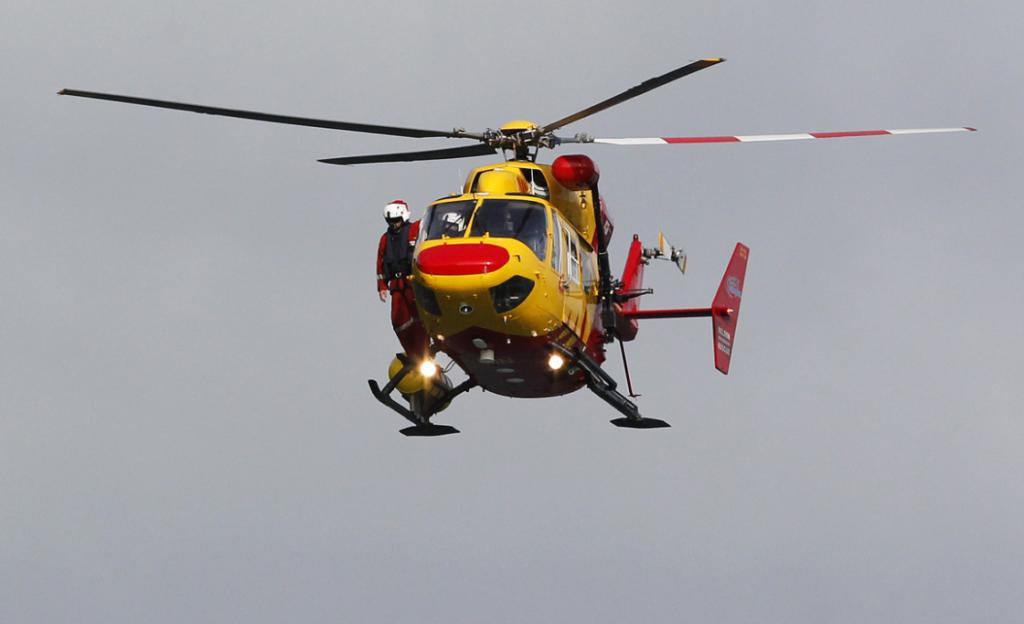 Five helicopters were used in the Port Underwood emergency operation.