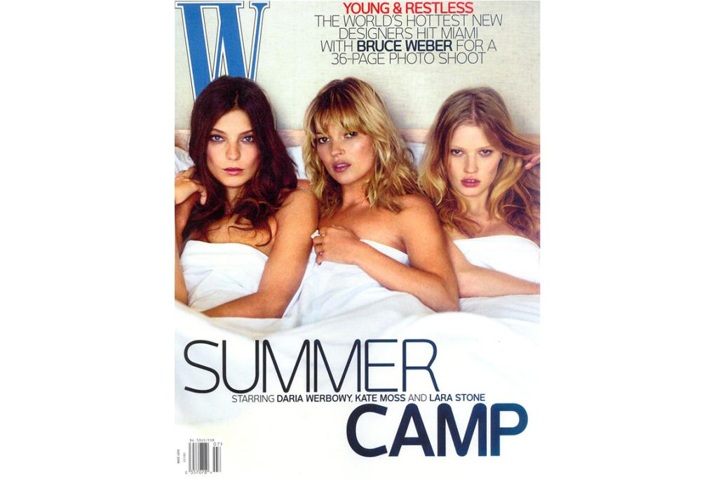 W: Kate teams up with fellow modelling heavyweights Daria Werbowy and Lara Stone for the cover of W magazine.