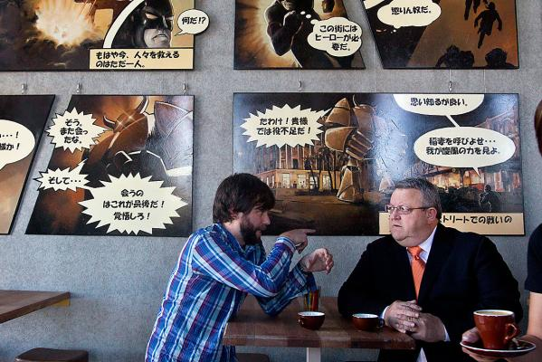 Gerry Brownlee at C1 Espresso