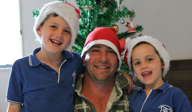 FARMER FILER: Neil Filer will be sneaking out to milk the cows at 3:30am on Christmas Day.