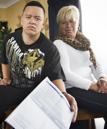 DEMANDING: Kaye Nonoa, right, is being taken to court for outstanding school fees for her son Johnboi, left. She feels legal action is excessive.