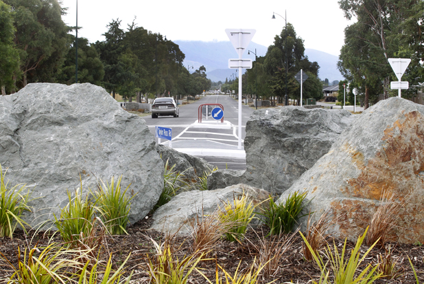 Traffic island on Taylor Pass Rd