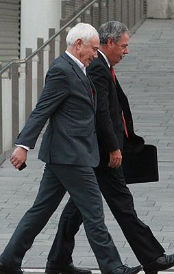 BROTHERS IN ARMS: Bob Parker and Tony Marryatt were in step during their tenure in charge of the city.
