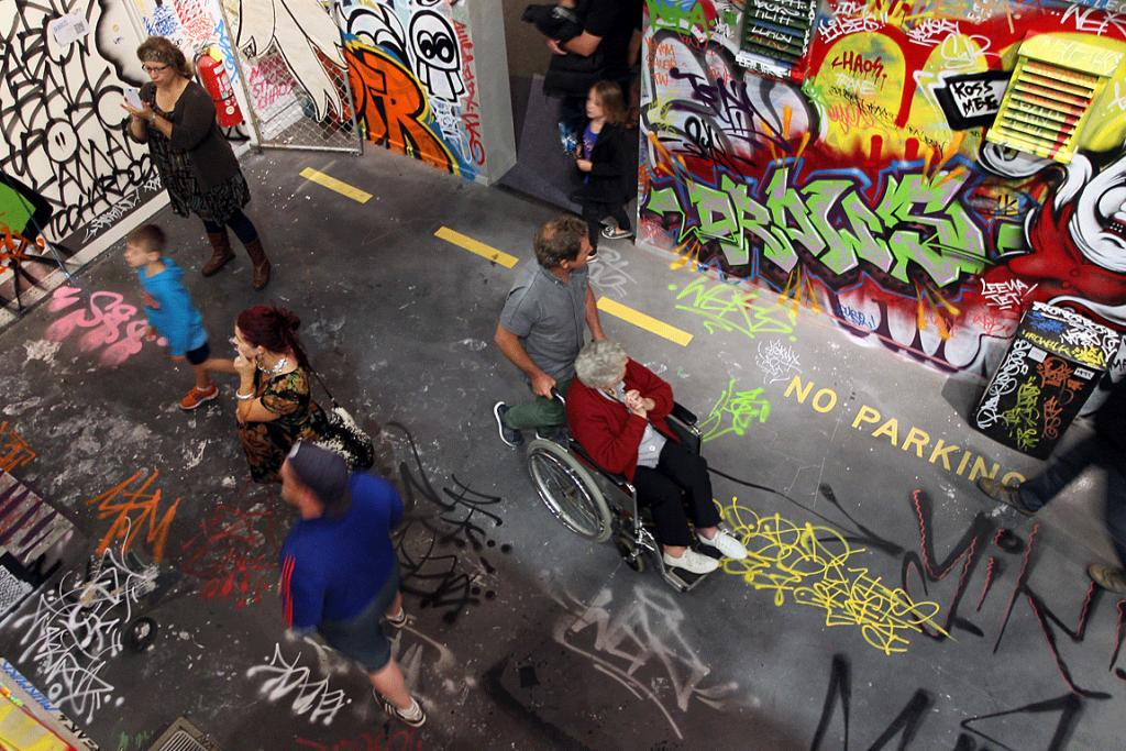 POPULAR ART: The RISE street art exhibition has broken visitor records after opening at the Canterbury Museum.