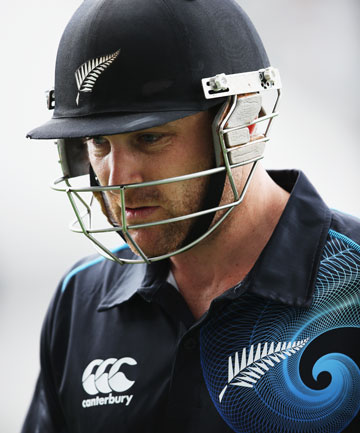 GIVEN OUT: Brendon McCullum walks off after being given out in controversial circumstances in the first ODI.