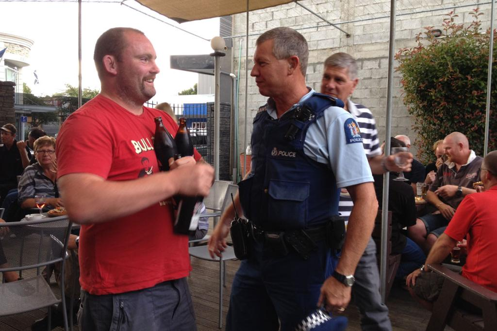Alexandra Police out on the beat as new alcohol laws come into force.