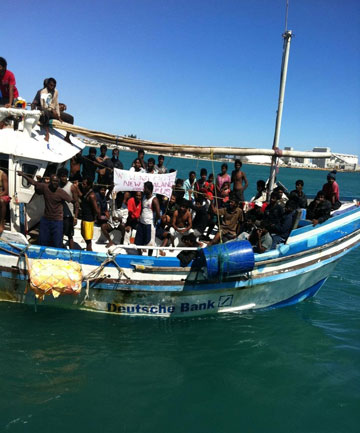 WORKING POLICY: The Australian Government says the number of asylum seekers arriving on Australian shores are dwindling.