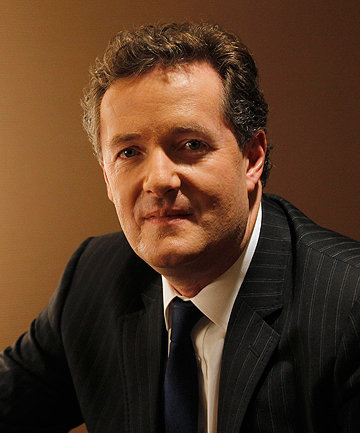 PIERS MORGAN: Claims he can bat despite struggling against Brett Lee in a lunchtime exhibition net.