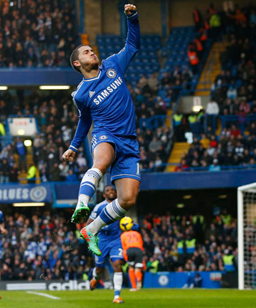 LEADER: Eden Hazard dominated throughout as Chelsea overcame Liverpool challenge.