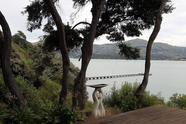The Point - deck overlooking Akaroa harbour