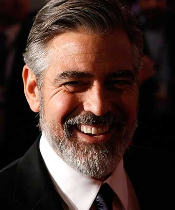 GEORGE CLOONEY: An actor who embraces the beard.