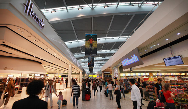 HARRODS AT HEATHROW: The legendary London department store has an outlet in each of the airport's five terminals.