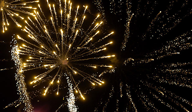 FIREWORKS: The party in North Hagley park kicks off at 6.30pm.