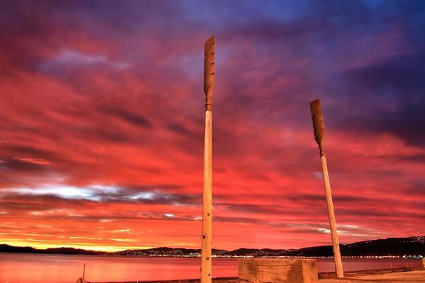 summer pix Petone sunset
