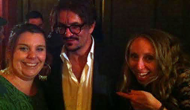 Carol Beaumont with Johnny Depp lookalike