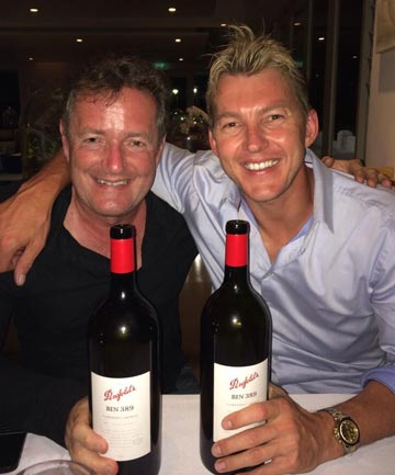 FEUD OVER: If there was ever any ill feeling between Brett Lee and Piers Morgan, it looks to have been well and truly settled.