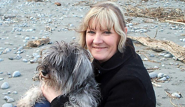 DEVASTATED: Debby Lange saw her miniature schnauzer Zeta killed in a hit-and-run.