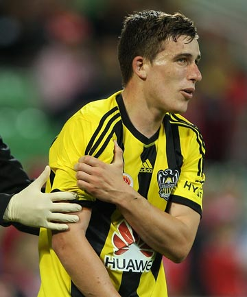 INJURY BLOW: Louis Fenton has been ruled out of the remainder of the Wellington Phoenix's season.