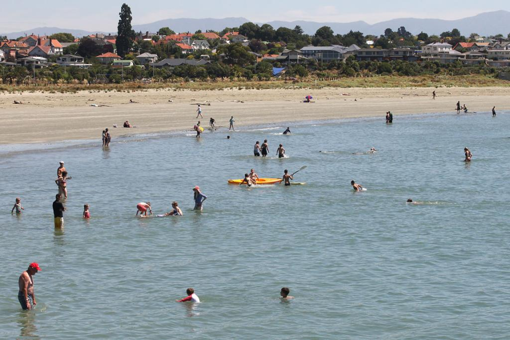 CAROLINE BAY, TIMARU: Smooth and safe, an ideal beach for families.