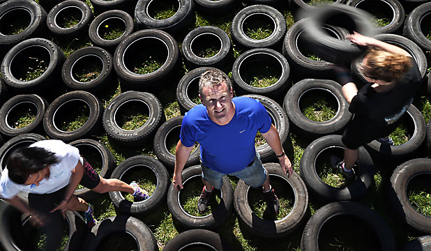 Stampede tyre obstacle