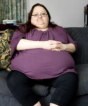 DESPERATE MEASURES: Lynda Sim before her trip to Korea for weight-loss surgery.