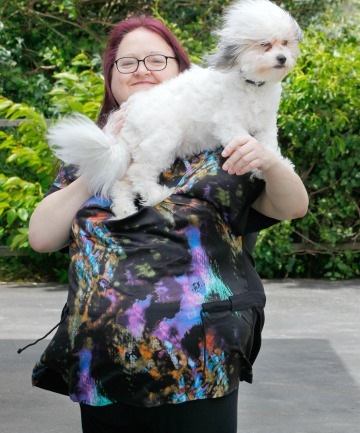 BRAVE NEW WORLD: Lynda Sim says the magic of bariatric surgery – after which she lost 60kg – is in the little things, like playing with dog Sophie.